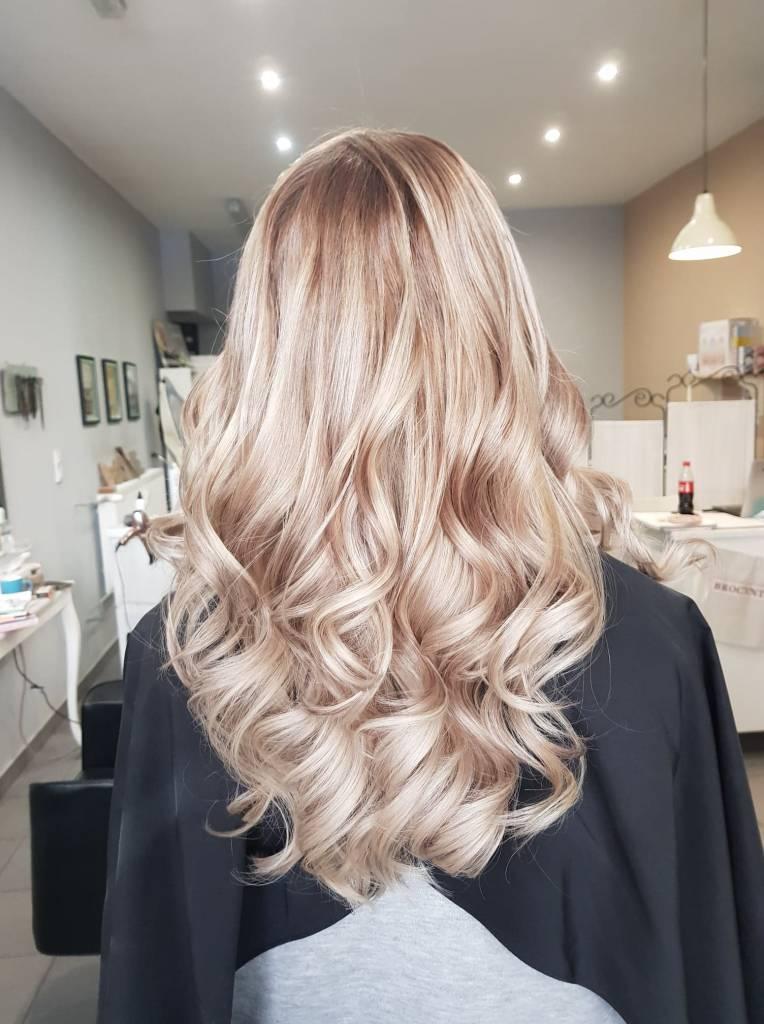 polerowanie włosów w salonie Brocante