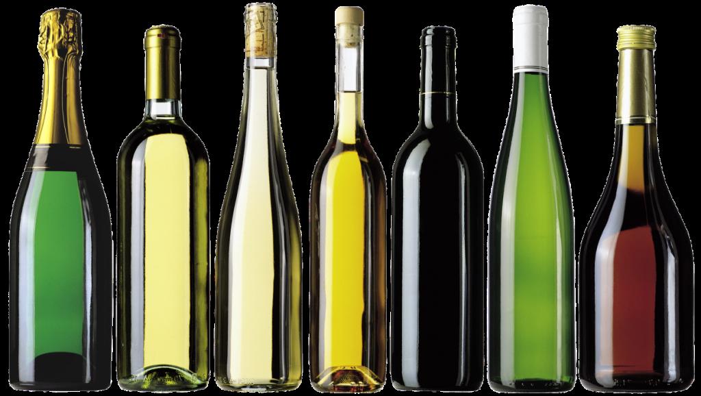 butelki wina